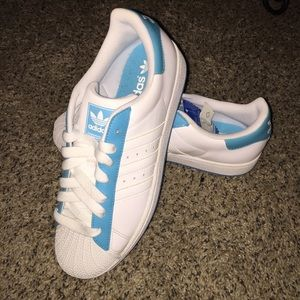 Adidas Superstar 8M/11W blue and white